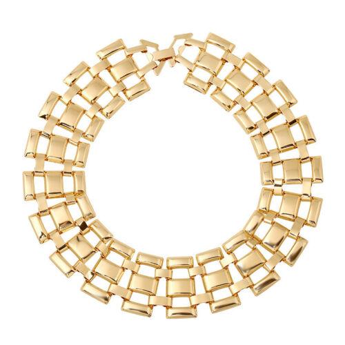 Lady Ethnic Boho Bib Statement Chain Chunky Choker Pendant Necklace Punk Jewelry