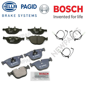 For BMW M5 M6 5.0L V10 2006-2010 Front /& Rear Disc Brake Pad Set w// Wear Sensors