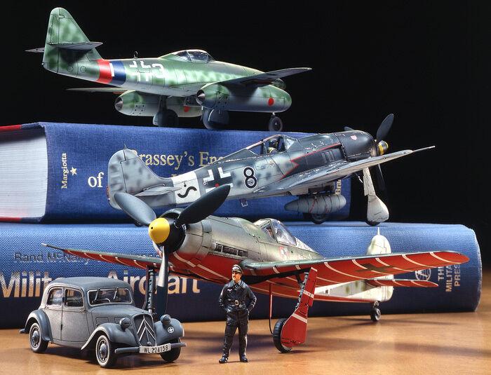 Tamiya 89769 1  48 skala militär- modellllerler Kit WWII Tyska Luftwaffe Interceptor Set