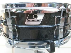 Ludwig-5-034-x14-034-Acrolite-Blacrolite-Snare-Drum-International-Shipping-Welcome