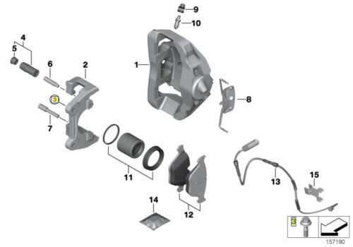 VITE Esagonale BMW a vite M12 x 1.5 x 41 mm grado 10.9 6797579 34116797579