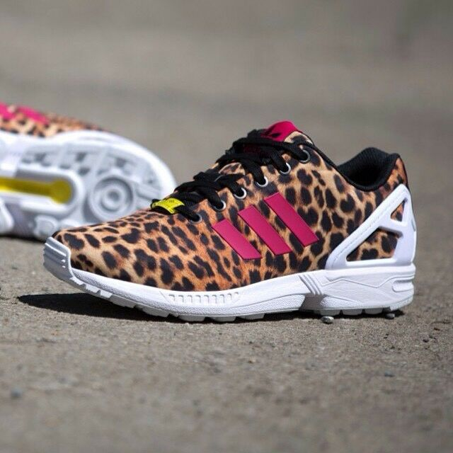 ADIDAS ZX FLUX WOMEN'S RUNNING SHOES M21365 BLACK VIBER RUNNING WHITE