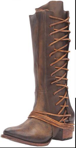NIB FREEBIRD by Steven Cash Olive  Leather Boots 8 SZ  NIB