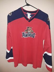 brand new d2f0d f7e8a Details about Florida Panthers Red Bure Jersey Sz Youth x-large 16-18 NHL  Winning Goal rare