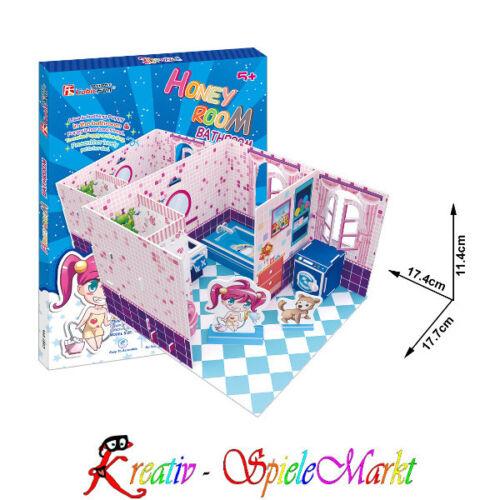 Cubic fun 3d puzzle casa de muñecas baño
