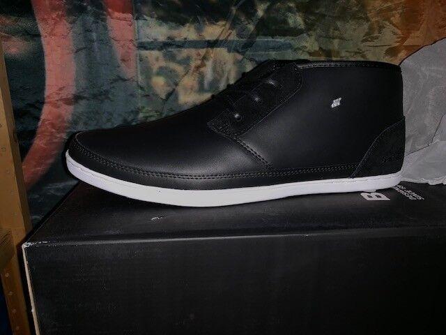 Neu Boxfresh Milford TRH Leather Gr 42 US 9 schwarz schwarz Turnschuhe Leder E-14070