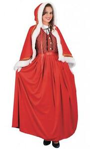 Adult luxury jolly mrs claus costume mrs santa christmas fancy dress