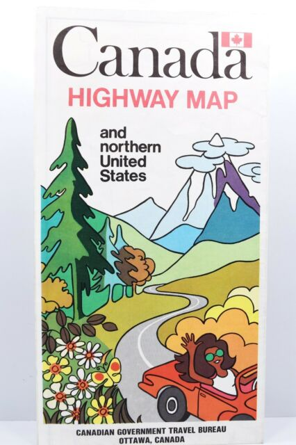 Canada Highway Map & Northern US – Canadian Government Travel Bureau ...