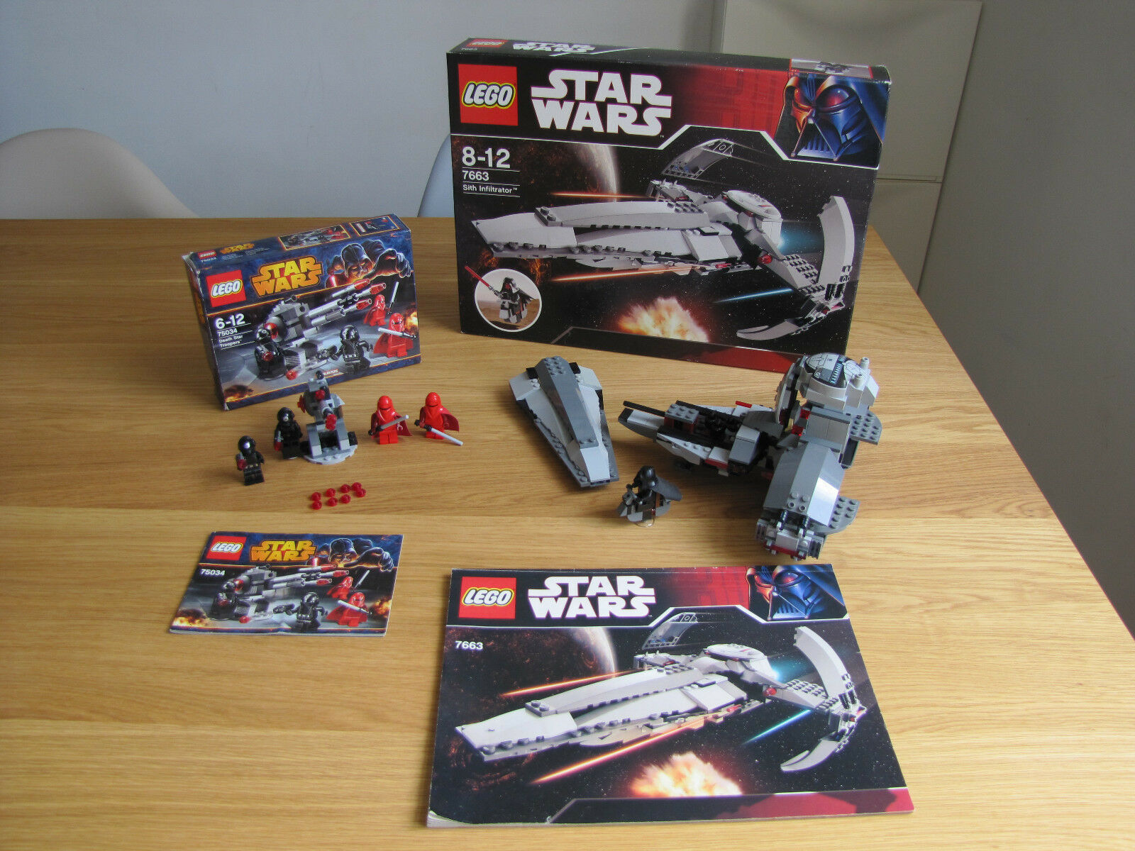 Lego Star Wars 7663 Sith Infiltrator, 75034 Death Star Troopers, komplett OVP