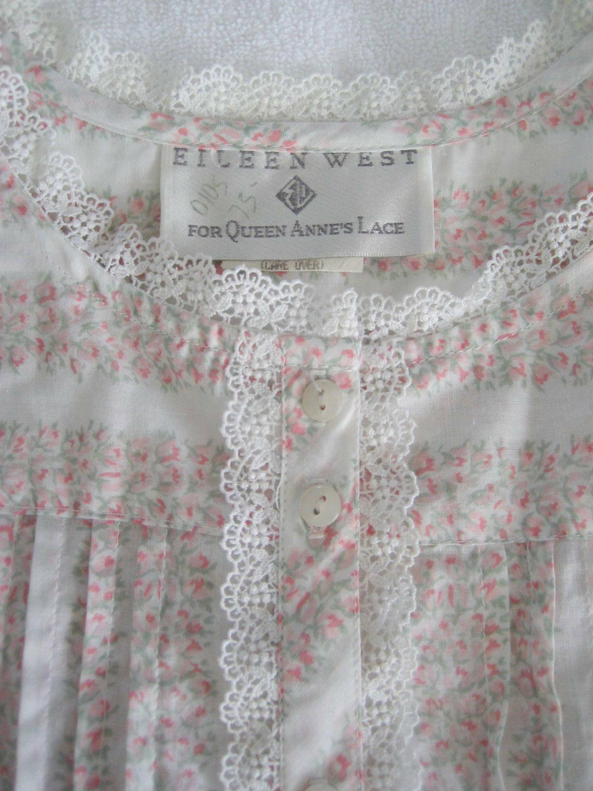 1990s Unworn Eileen West Queen Anne's Lace Nightg… - image 4