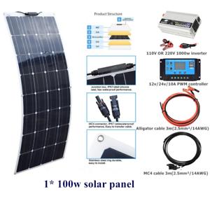100w flexible Solar Panel Kits+1000w inverter For Home RV