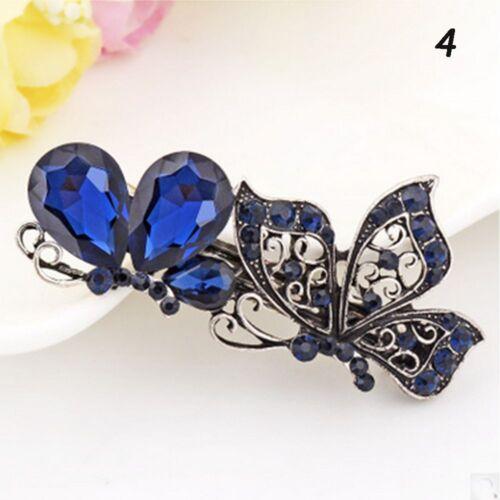 Rhinestone Crystal Butterfly Fashion Vintage Hair Hair Clip Barrette Hairpin