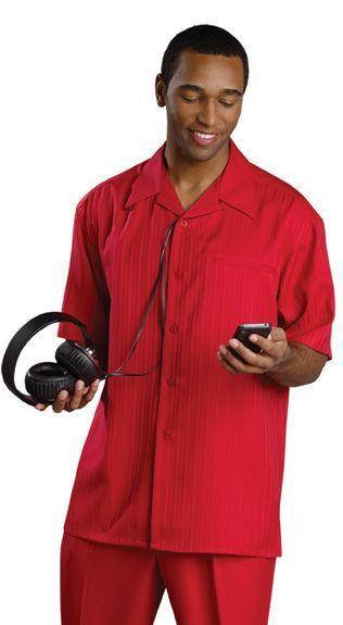 Mens 5X 54 Red Walking Suit Mens Leisure Suit