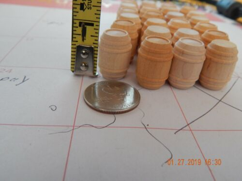 24 x Miniature Small unfinished Barrels//Kegs  Wooden Handcrafted