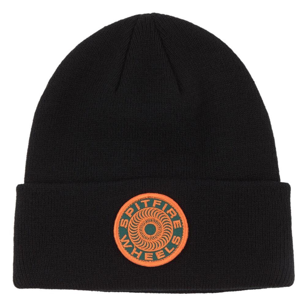 SPITFIRE CLASSIC 87 SWIRL Patch Beanie Black / Orange - Mütze, Wintermütze