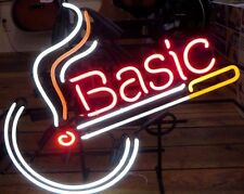 """BASIC CIGARETTE SEQUENCING NEON BAR SIGN 22""""x20"""" YOUTUBE VIDEO MADE IN USA '99"""