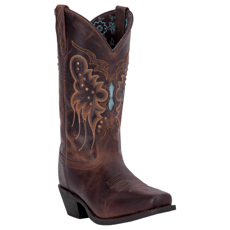 omaggi allo stadio Laredo Cora 01-52034-BN13 Donna  11  Brandy Brandy Brandy Marrone Leather Cowboy stivali  edizione limitata