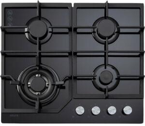 NEW Euro Appliances ECT600GBK 60cm Natural Gas Cooktop