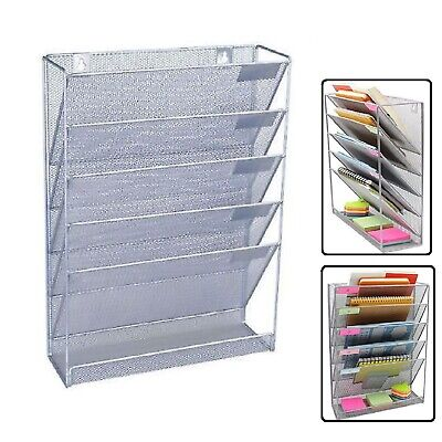 A4 Wall Mounted Holder File Document Organizer Mesh Office