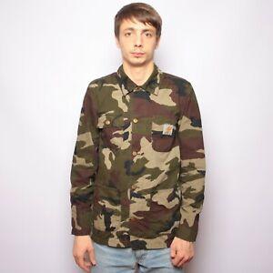 Carhartt-Digger-Coat-Jacket-Shirt-Camo-Ripstop-Size-S-Cotton
