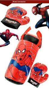 Spiderman-Boxsack-fuer-Kinder-Idealer-Bewegung-Lern-amp-Spass