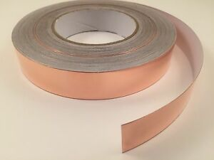 25mm x 50M yards Copper Foil Tape- EMI Shielding- Conductive-165'