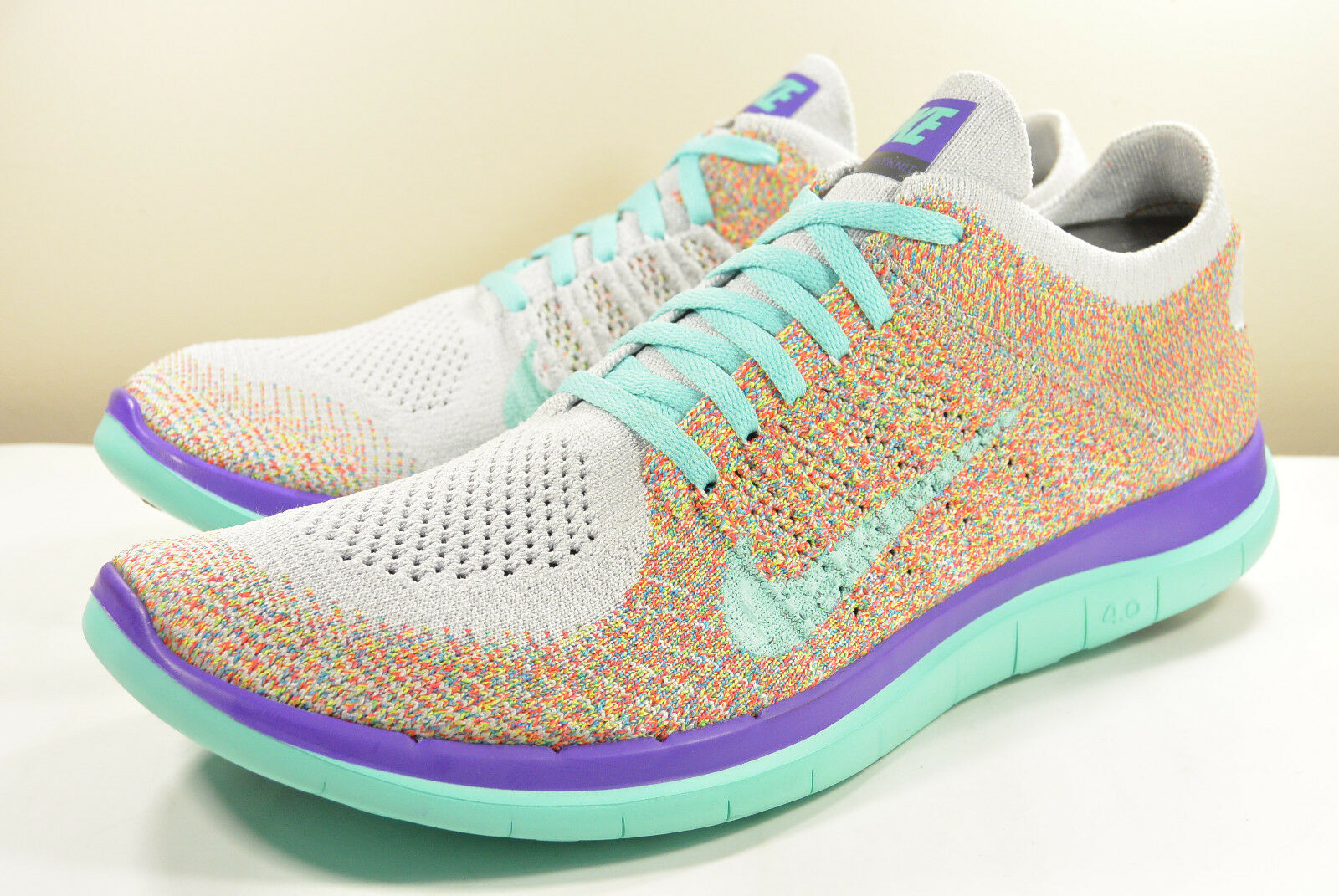 DS 2015 NIKE FREE 4.0 FLYKNIT ID MULTI-COLOR TEAL 10 PRESTO RIFT OLYMPIC MAX AIR