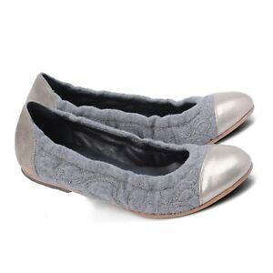 Brunello-Cucinelli-Monili-Beaded-Cashmere-Ballerina-Flats-shoes-sz-7-IT-37-new