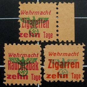 German WW2 Cigarette/Cigar/Tobacco ration stamps- NG- Germany- wehrmacht tages