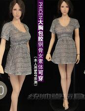 """Custom 1:6 Figure Women Clothing Dress For 12"""" Phicen Female Seamless Body Doll"""