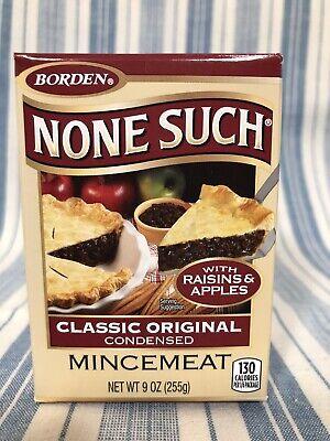 BORDEN NONE SUCH MINCEMEAT Classic Original Condensed 9 OZ ...