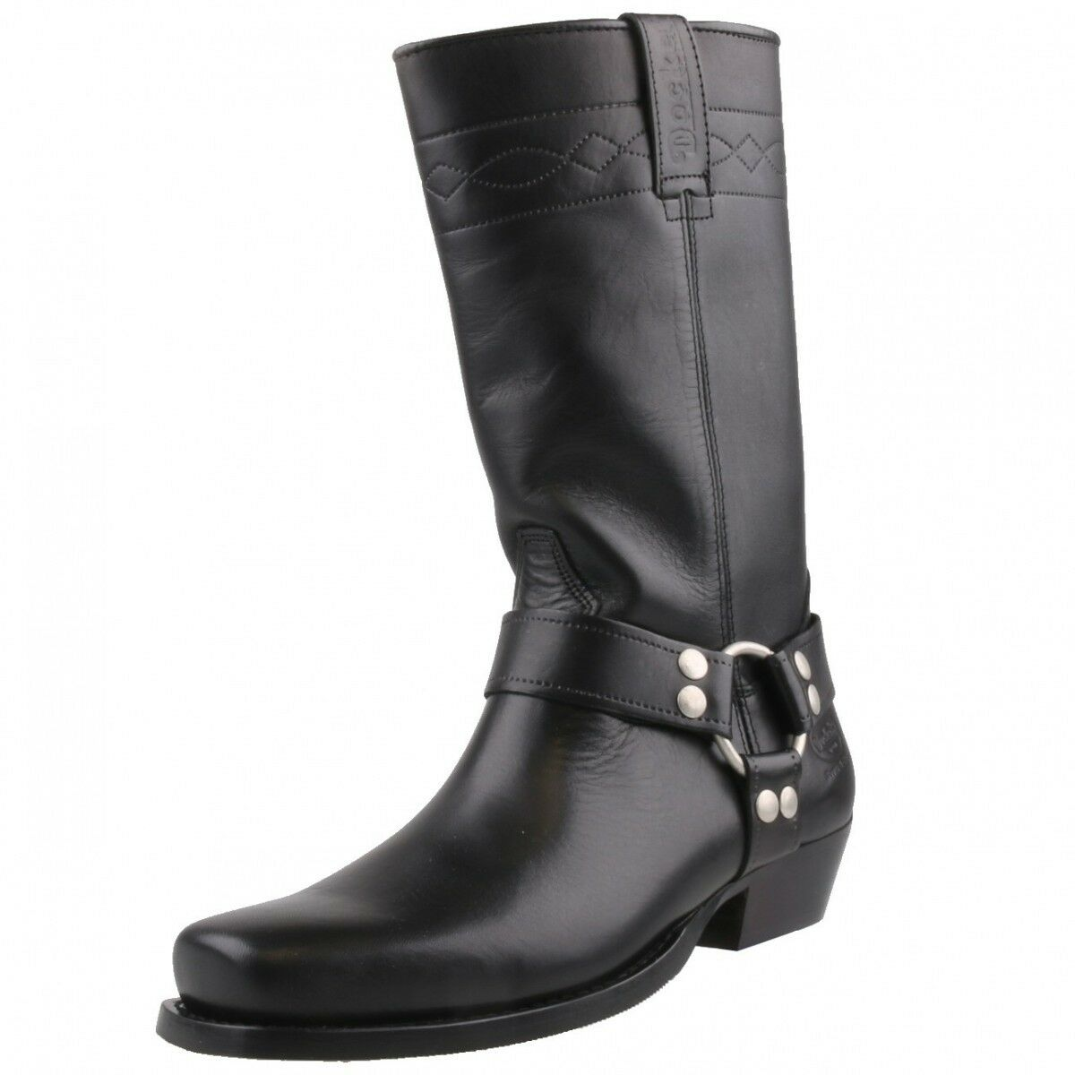 NUEVO DOCKERS Botas de Motorista Moto Hombre/mujer Zapatos cuero cuero cuero 030140 Negro c3fd69