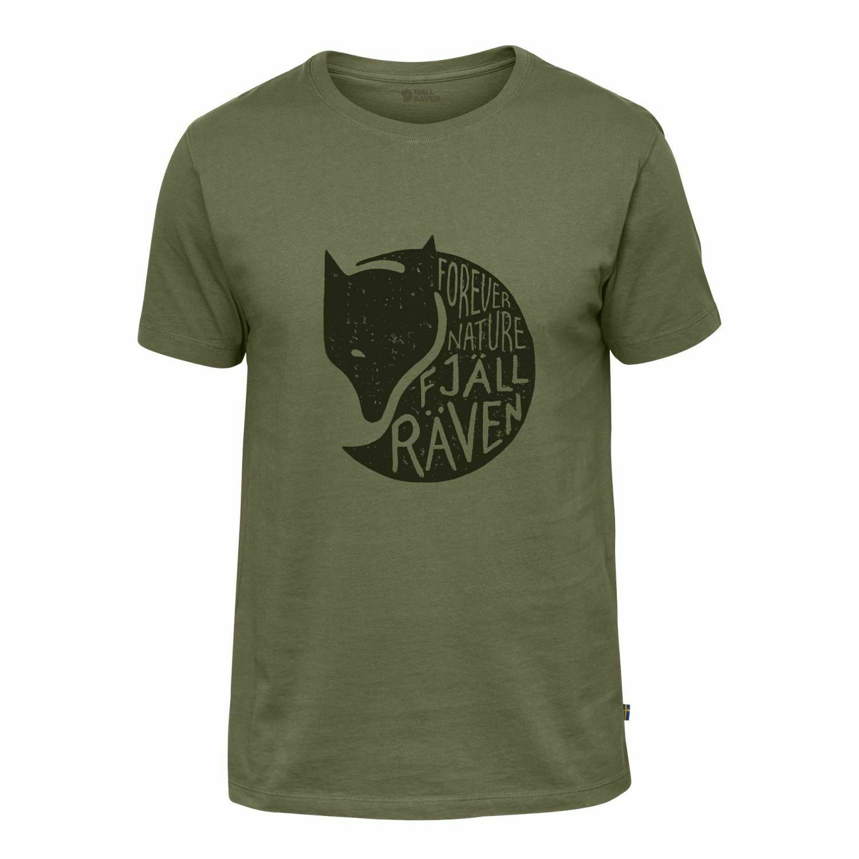 Scendendo Räven Tshirt a maniche corte Forever Nature Cotone MXXL verde