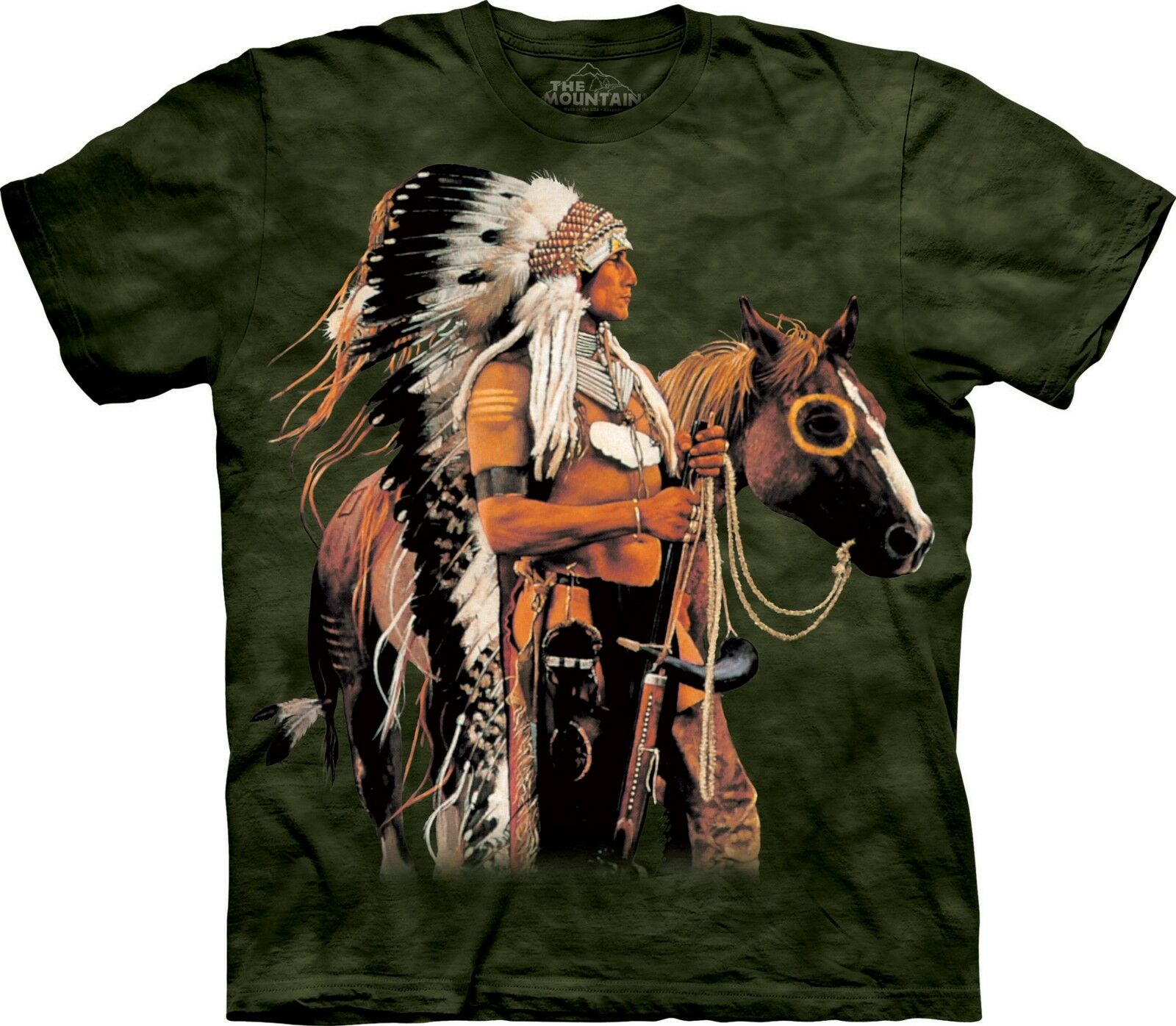 Painted and Proud Indians T Shirt Adult Unisex The Mountain