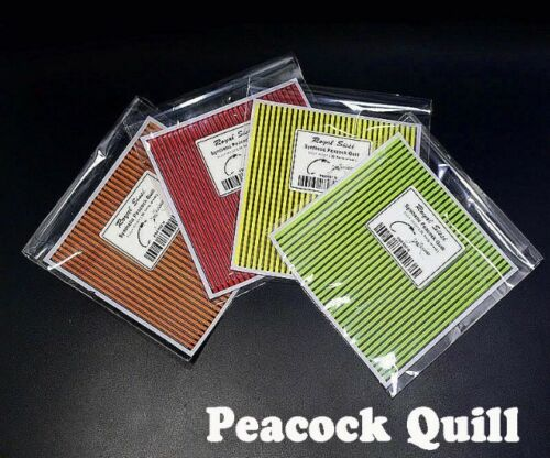 Details about  /Fly Tying Fly Fishing Peacock Quills Sheets Choose Colour from drop down menu