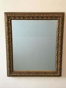 Contemporary Large Ornate Gold Framed Mirror With Ball Stud Detail Surround Ebay
