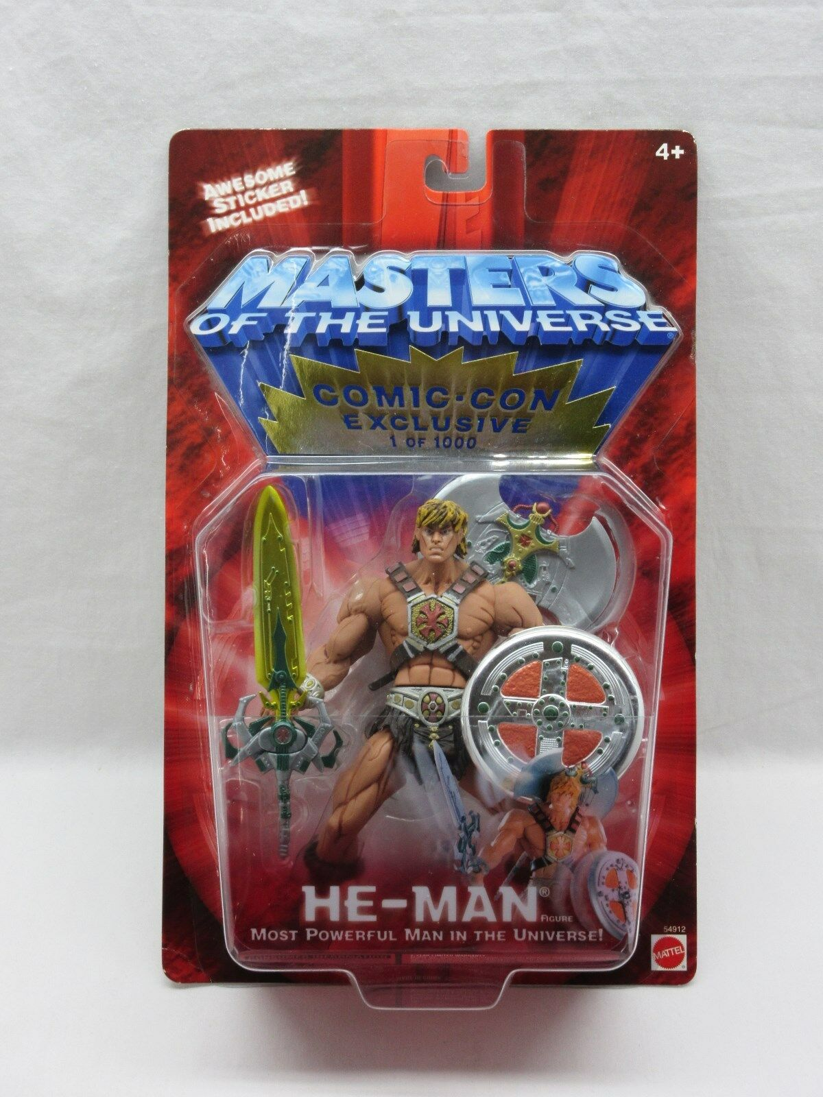 MOTU,200X HE-MAN,Comic Con Exclusive, 322,Masters of the Universe,MOC,Sealed