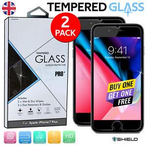 Per Apple iPhone 7 PLUS VETRO TEMPERATO PROTEZIONE SCHERMO 2 Pack - 100% Autentico -
