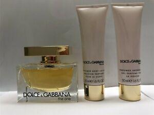Dolce & Gabbana The One 3pc Set 2.5 oz/75ml Eau de Parfum Spray Women, As Imaged