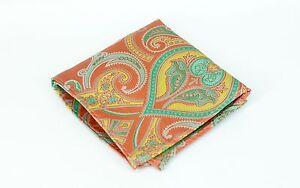 Lord R Colton Masterworks Pocket Square - Upsala Ice Coral Silk - $75 Retail New