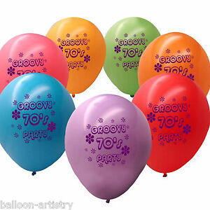Groovy-70-039-s-Party-Printed-Latex-Balloons-10-pack