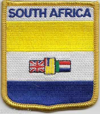 South Africa 1928 to 1994 Flag Shield Embroidered Patch Badge