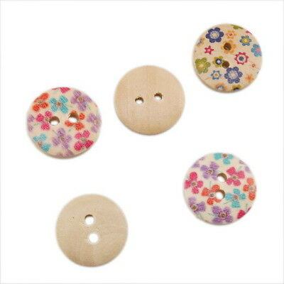 70pcs 110611 Wholesale Assorted Oblate Sewing/Scrapbooking Wooden Button 15mm