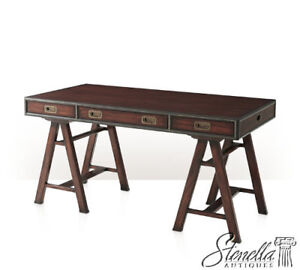 Details About 41194: THEODORE ALEXANDER #7100 118 Mahogany Campaign Style  Writing Desk ~ NEW