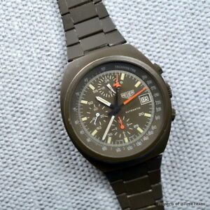 HEUER-1985-510-502-LEMANIA-5100-OLIVE-GREEN-PVD-RARE-41MM-AUTOMATIC-CHRONOGRAPH