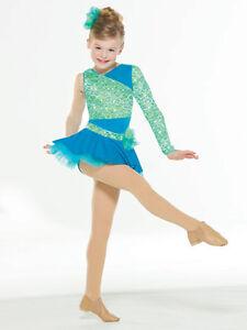 Skating Dresses-girls Ice Skating Winter Sports Dance Costume Size 10 New