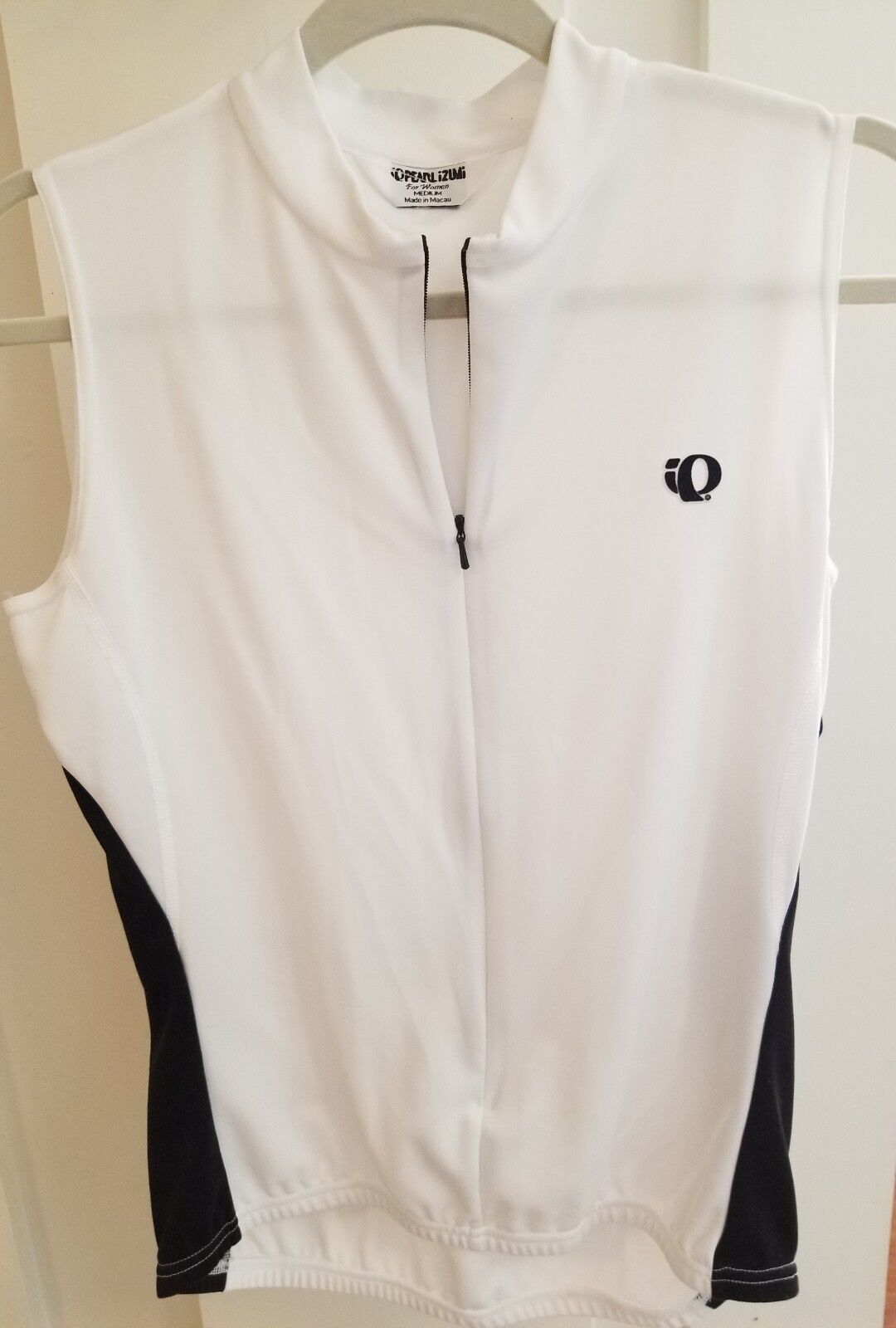 NWOT Pearl Izumi sleeveless zip vest,  Cycling WHITE size M  high quaity