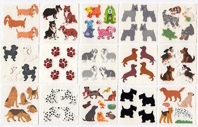 You Choose Vintage Sandylion Fuzzy Dog Puppy Stickers Pet Labrador Retriever