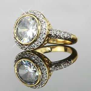 Damen-Ring-mit-Zirkonia-weiss-Echt-750-Gold-18-Karat-vergoldet-Gr-waehlbar-R1083