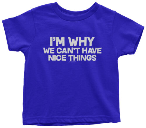 I/'m Why We Can/'t Have Nice Things Toddler T-Shirt Funny Saying Quote